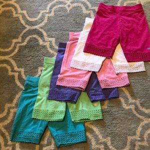 Spandex shorts with lace!